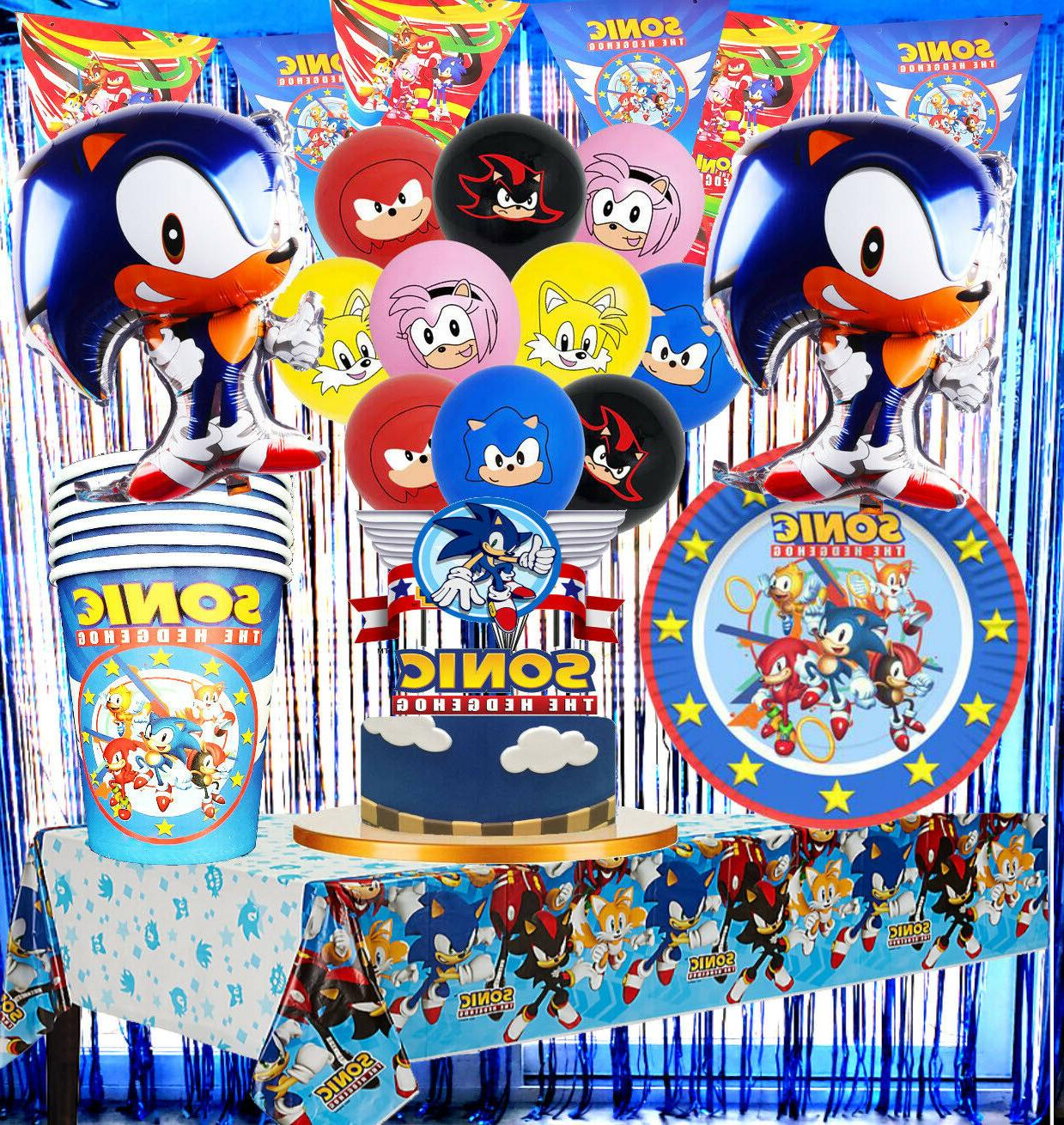 sonic box cake cupcake topper party balloon