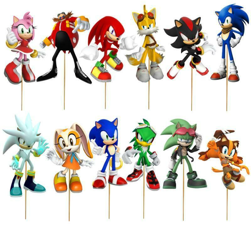 SONIC TOPPER decoration BIRTHDAY PLATE BANNER CUP