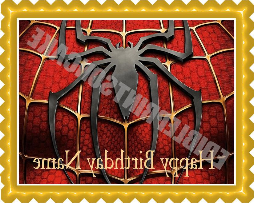 SPIDERMAN 2 Edible Birthday Cake Topper OR Cupcake Topper, D