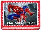 SPIDERMAN Birthday Image Edible Cake topper