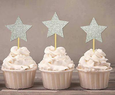 star shape cupcake toppers birthday wedding party