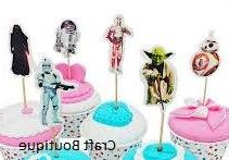 Star Wars Cupcake Toppers Picks Star Wars Birthday Party Sup