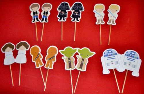 star wars party favors cupcake toppers set