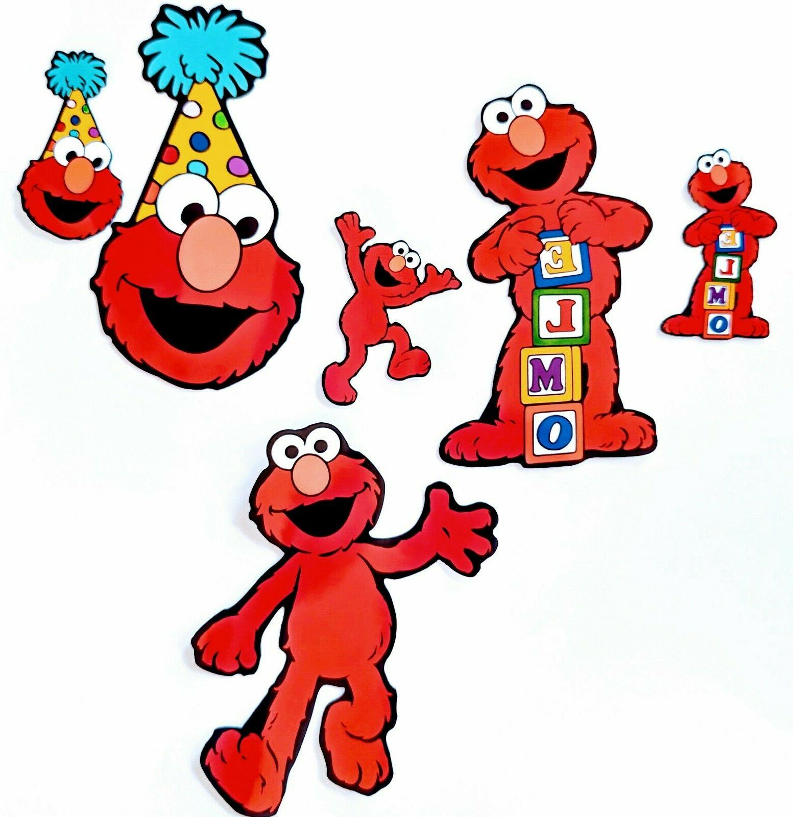 Elmo Stickers for Birthday Cupcake Topper