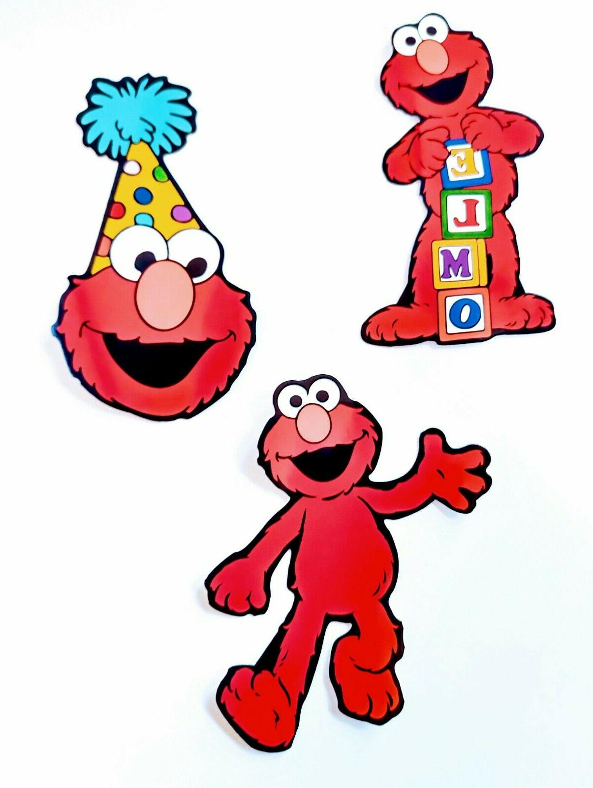 Elmo Stickers for Kids Birthday Party Cupcake Topper