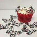 Sugar Skull Print Butterflies 24 x cupcake / cake toppers wa