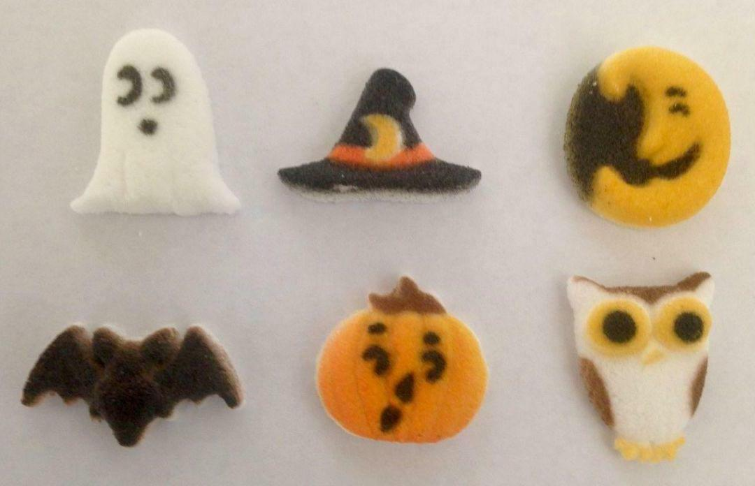 """Lucks Sugar toppers 24 count Halloween Cutie Creepers 1"""" Cup"""