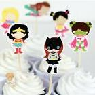 SUPER HERO GIRL Cupcake Cake Toppers and wrappe / Birthday P