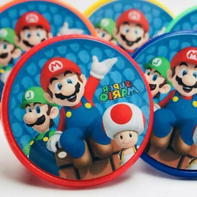 super mario cupcake toppers birthday party supplies