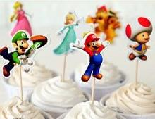 Super Mario Cupcake Toppers Birthday Party Supplies Favors P