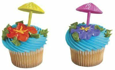 surfing luau cupcake cake topper 12 18