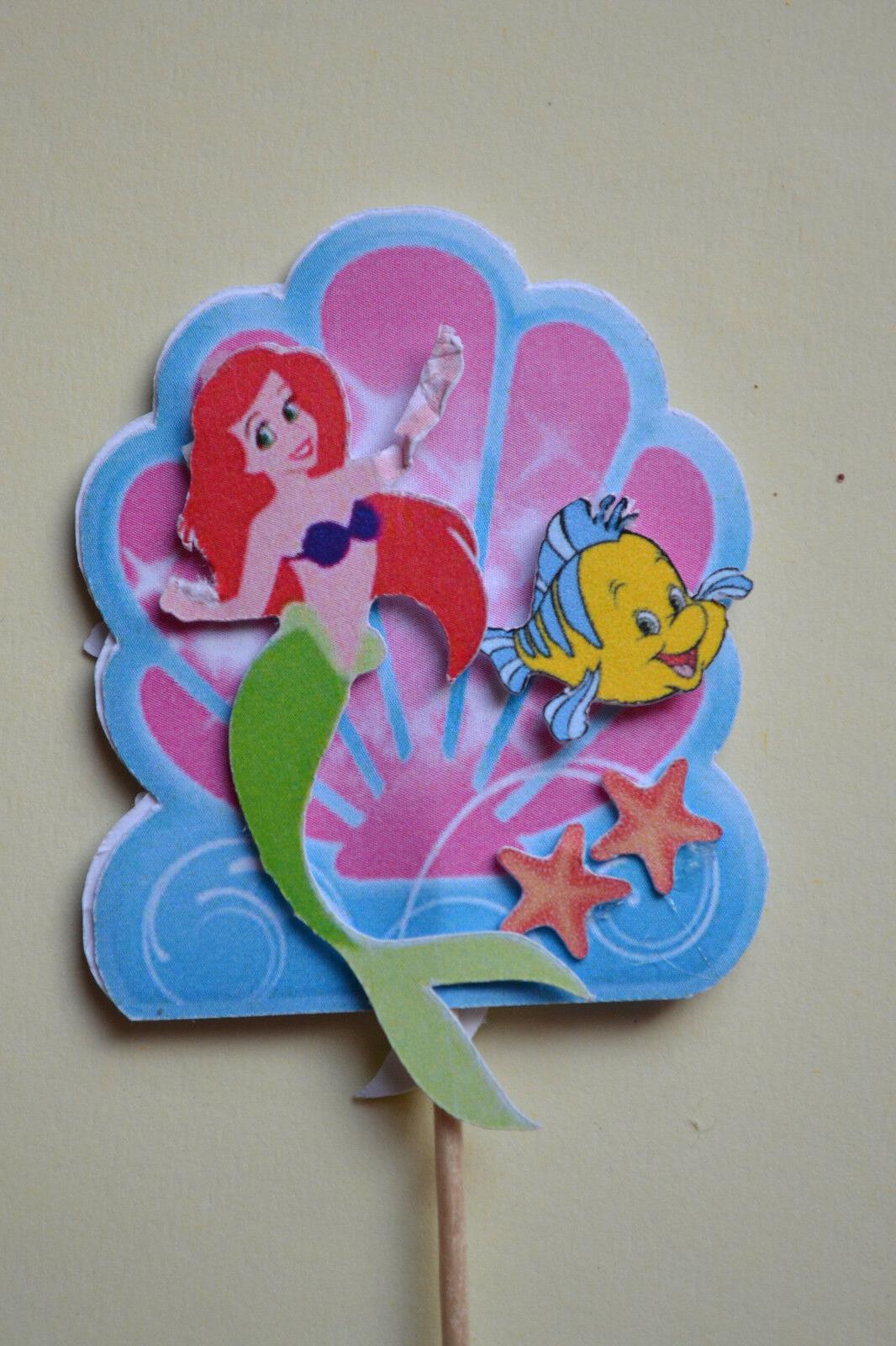 the little mermaid ariel 12 pcs cupcake
