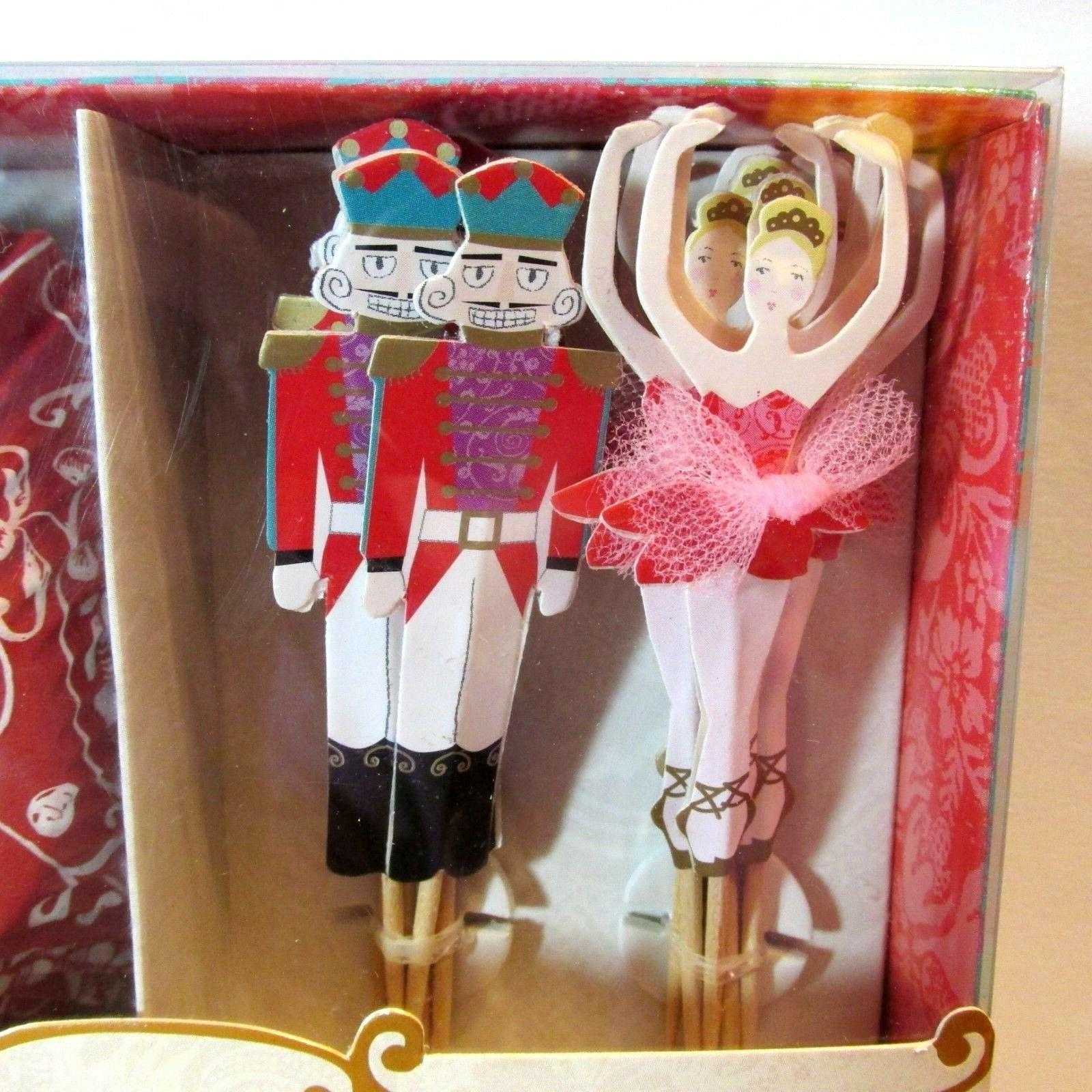 Meri Meri The Nutcracker 24 Cases Toppers Tree NEW