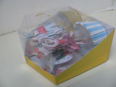 """MERI MERI """"THE NUTCRACKER"""" CUPCAKE KIT - 24 CUPS PICKS - NEW"""