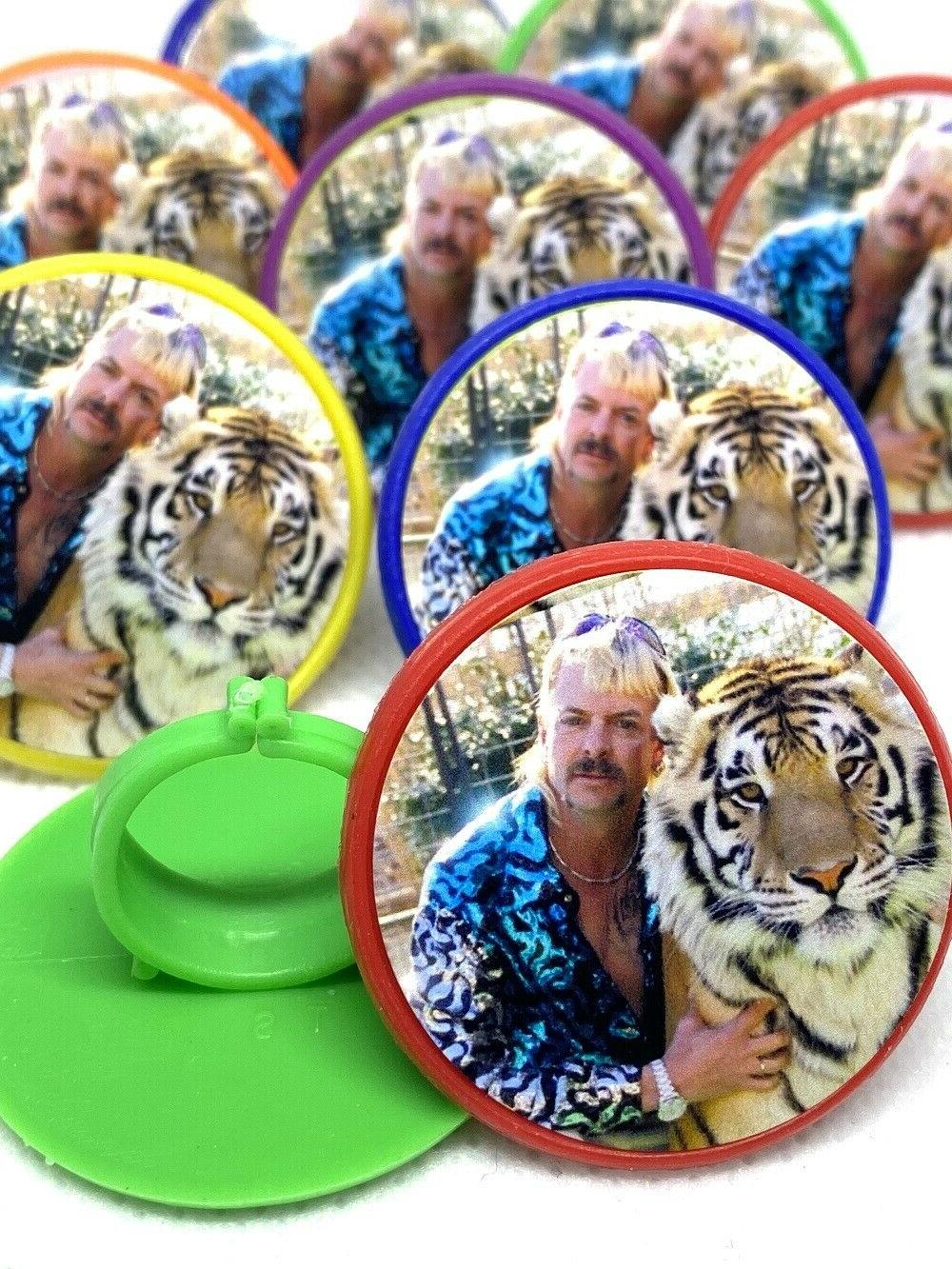 Tiger King Joe Exotic Cupcake Toppers Party Favors Rings Cak