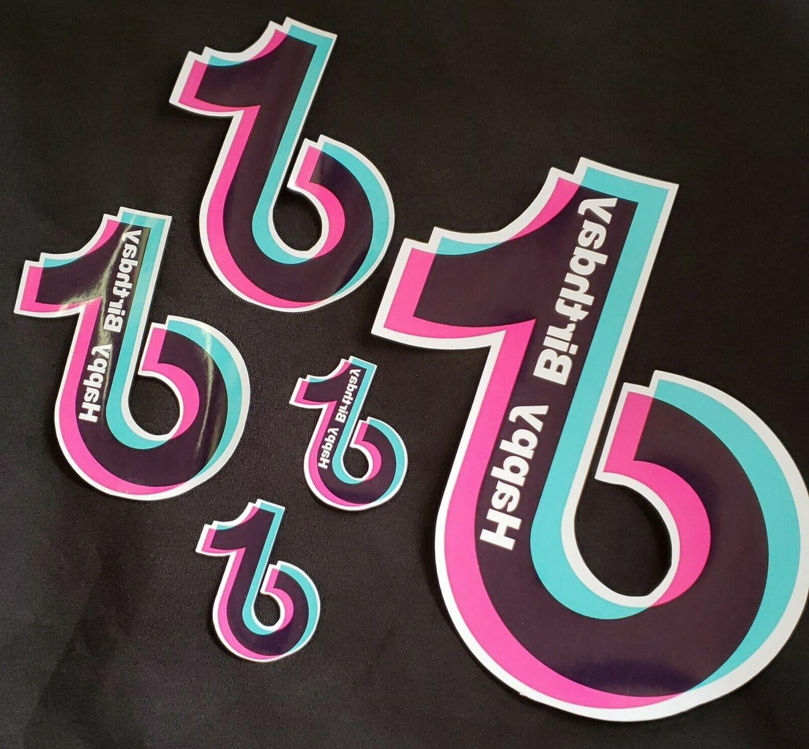 tiktok pink stickers for kids birthday party