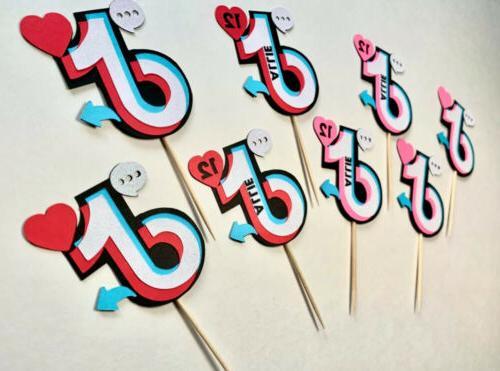TikTok / Tok Personalized Cupcake Tiktok Themed Birthday Party