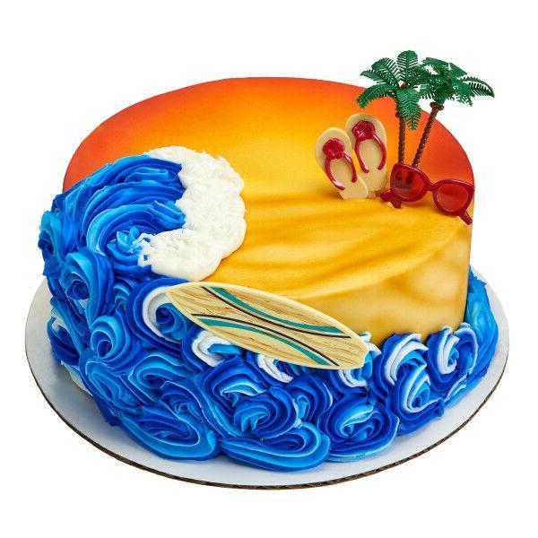 Tropical Cake Toppers Flop Cupcake Picks Dozen