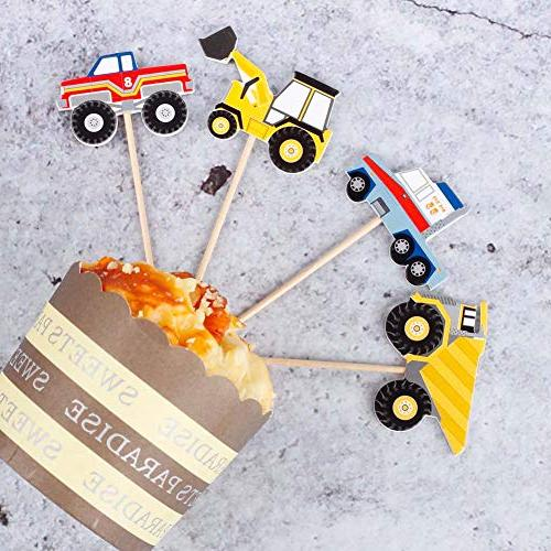 YunKo Truck Excavator Dumpers Fun Cake Decorative Cupcake Decorating Tools Party