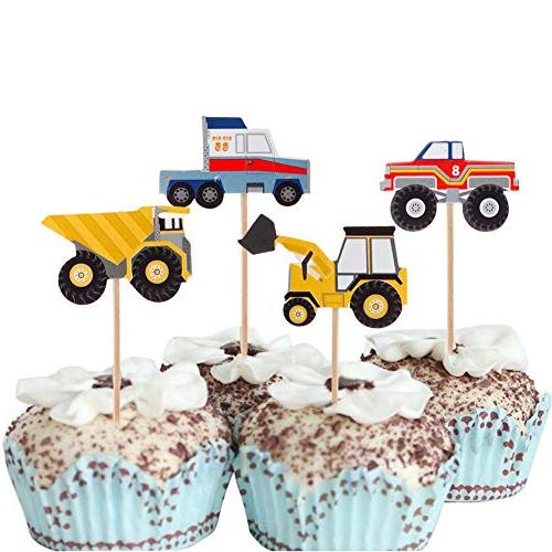 YunKo Cupcake Toppers Truck Dumpers Car Fun Cake Cupcake Party