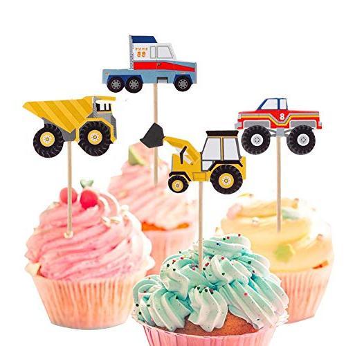 YunKo Cupcake Truck Excavator Fun Cupcake Party