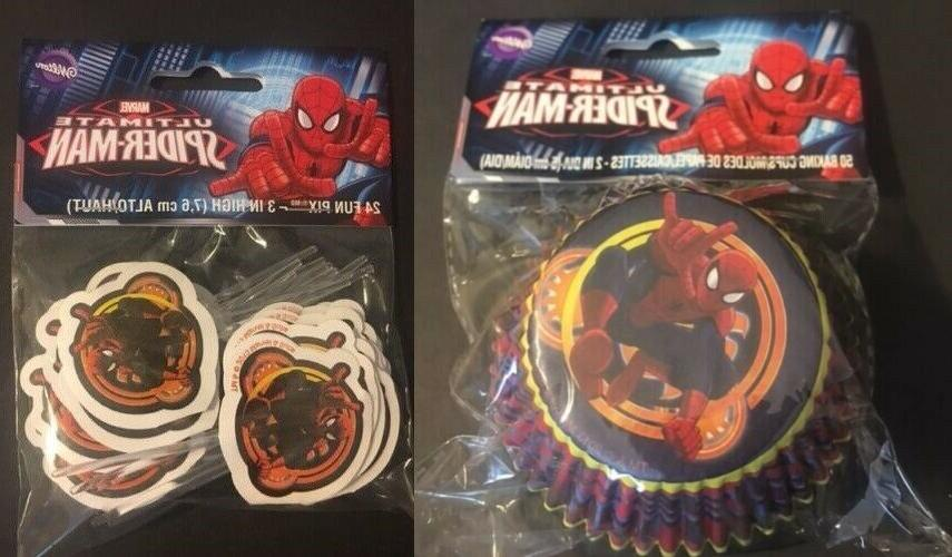 ultimate spider man cupcake liners 50ct