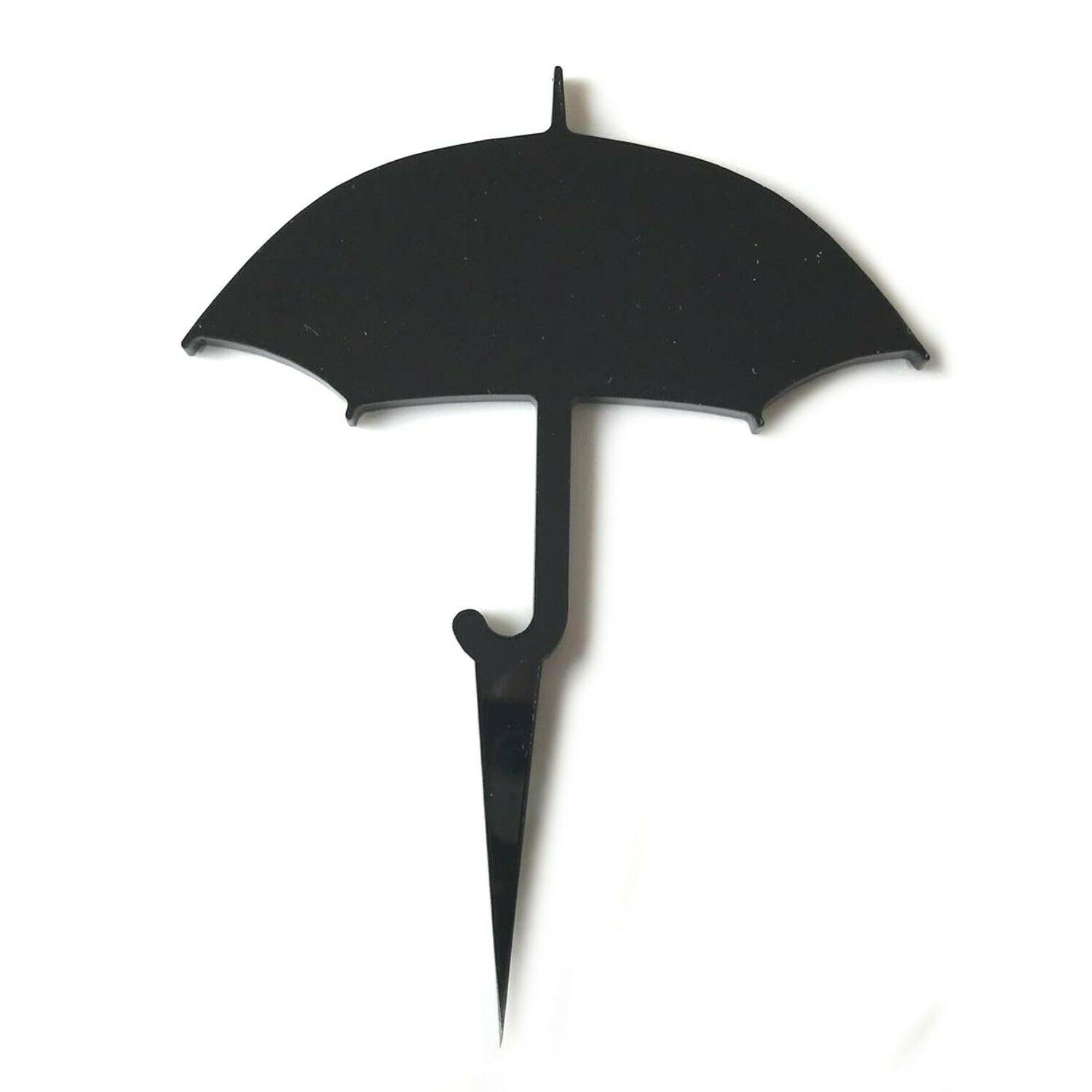 Umbrella & Cupcake Toppers Colours & Sizes Plane or