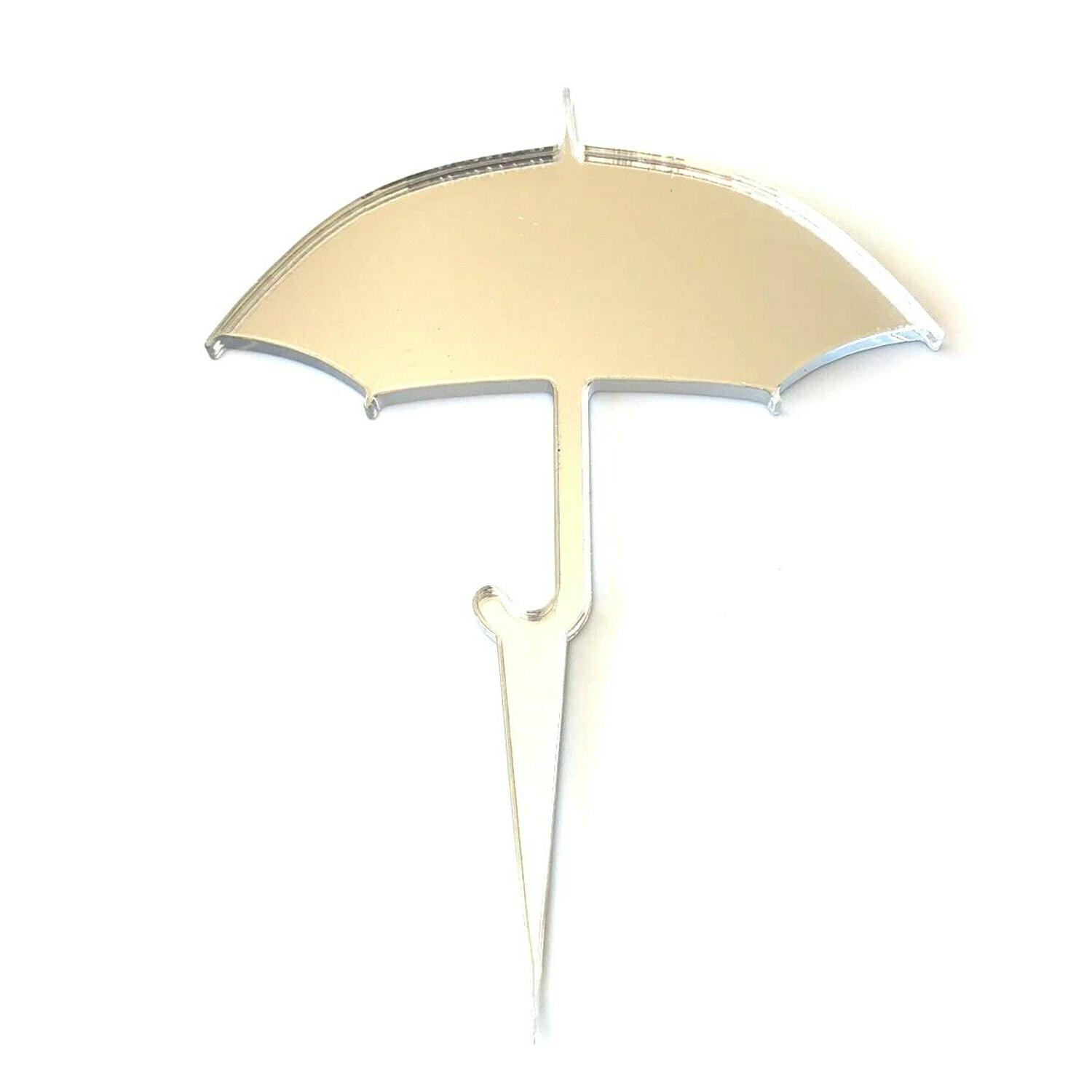 Umbrella Cake & Toppers Sizes or