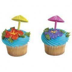 umbrellas assorted cupcake toppers 3d