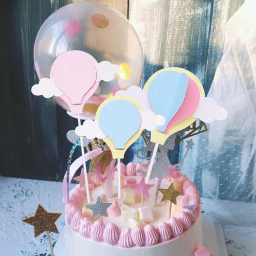 Unicorn Balloons Cake Cupcake Topper Birthday Wedding Party Baby Shower Decor
