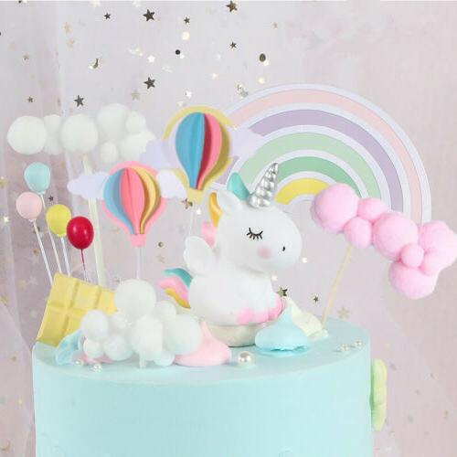 Unicorn Cupcake Topper Birthday Baby Shower Decor