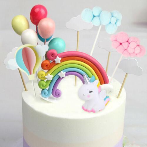 unicorn balloons cake cupcake topper birthday wedding