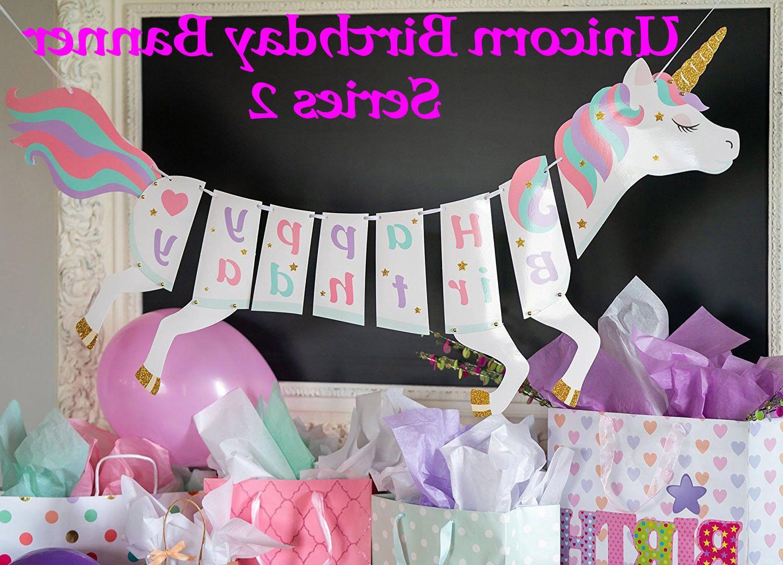 Unicorn Theme Party Decoration, Cake Topper, Balloon