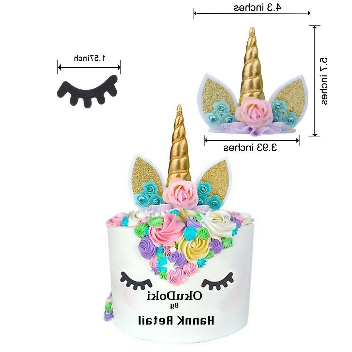 Unicorn Decoration, Cake & Topper, Balloon