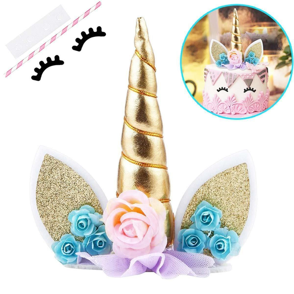 UNICORN TOPPER Party Cupcake Decoration Supplies 5.8''