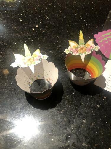 Unicorn Cupcake Cake Decorations, Supplies