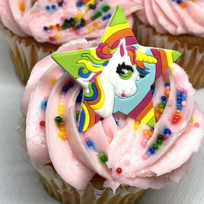 Unicorn Cupcake Toppers Cake Decorations Set of Unicorns