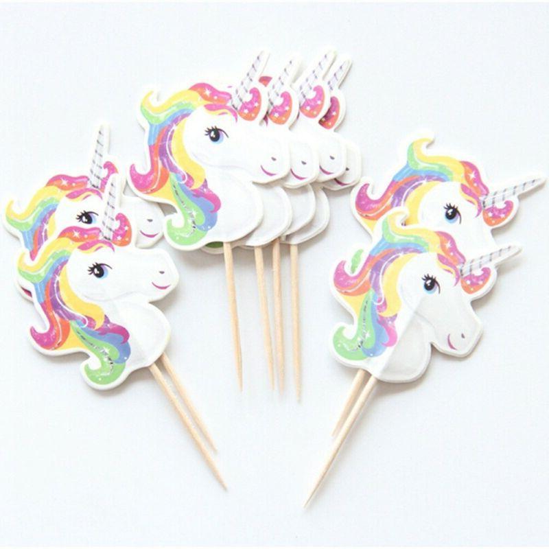 Unicorn Toppers Picks X 24 Shower Cxz
