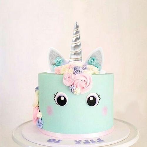Unicorn Horn Kids Baby Party Decor Cupcake