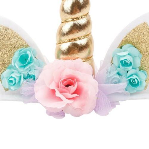 Unicorn Horn Cake Kids Baby Party Cupcake
