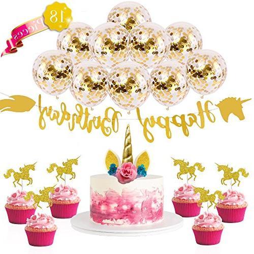 unicorn party supplies kit cake