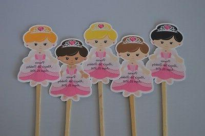 UNIQUE PERSONALIZED PRINCESS CUPCAKE TOPPERS BABY SHOWER, BI