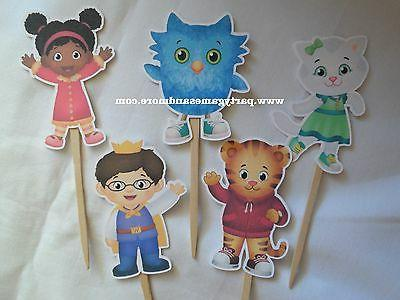 UNIQUE PERSONALIZED CUPCAKE TOPPERS DANIEL TIGER'S NEIGHBORH