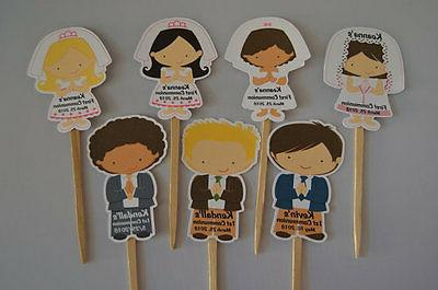 UNIQUE PERSONALIZED FIRST HOLY COMMUNION CUPCAKE TOPPERS COM