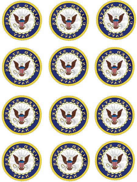 united states navy cupcake toppers edible image