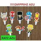 US SELLER SUPER HERO Kids Cupcake Toppers Decoration PARTY S