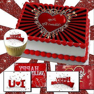 valentine s day edible cake or cupcake