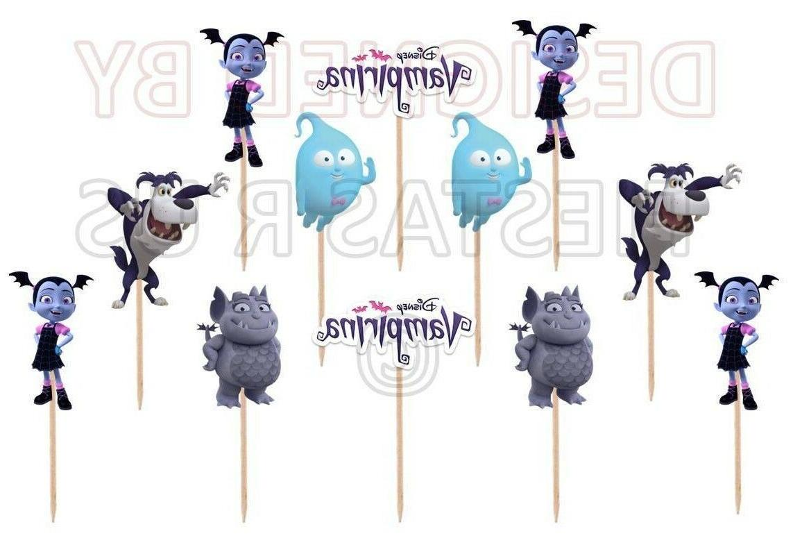 Vampirina Cupcake Toppers 12 or 24 pc. Vampirina Party Suppl