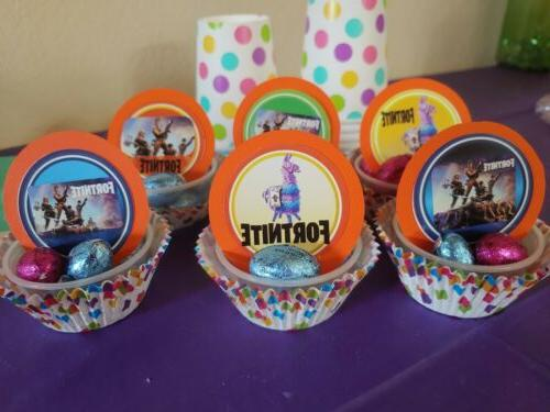 Video cupcake toppers, 24 pieces for llama Fort Orange