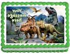 WALKING DINOSAURS Image Edible Cake topper party decoration